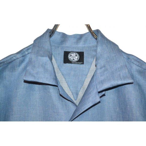 画像2: NOiSECRAFT/Linen Denim Shirt