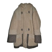 USED/Cable Knit Switching Duffle Coat