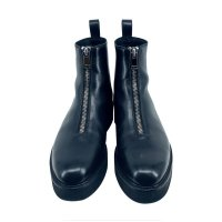 ANNDIRK IZM/Center Zip Studded Sole Boot